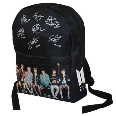BTS | Batoh  BTS,  černý,  podpisy a foto  Full Print