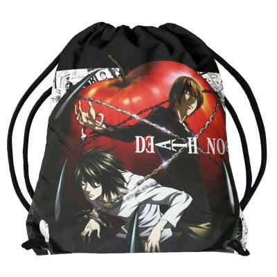 DEATH NOTE | Vak - pytel přes rameno Death Note, Light & L & jablko