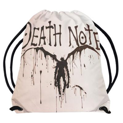 DEATH NOTE | Vak - pytel přes rameno Zápisník smrti, bílý silueta Ryuk