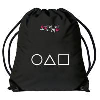 Squid Game | Vak - pytel přes rameno Hra na oliheň,  černý,  znaky, logo korejské