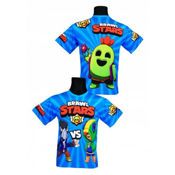 Tričko BRAWL STARS Leon vs. Crow modrá