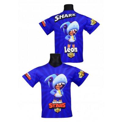 Tričko BRAWL STARS Leon Shark