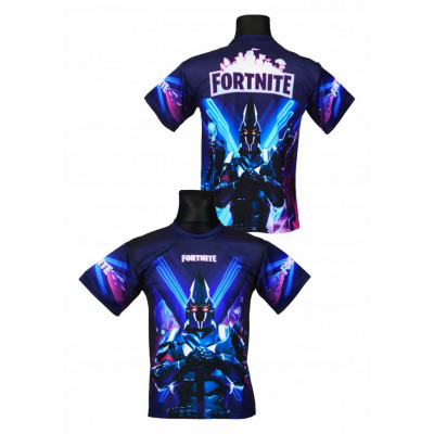Tričko Fortnite  modrá/černá