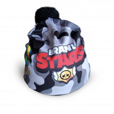Čepice dětská BRAWL STARS maskáč