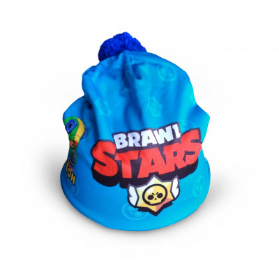Čepice dětská BRAWL STARS modrá 48-54