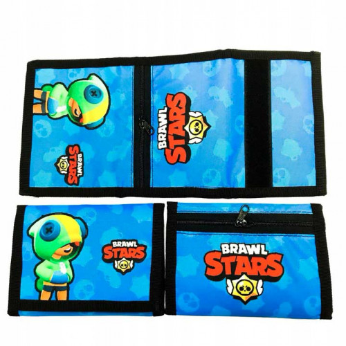 Dětská peněženka BRAWL STARS LEON modrá