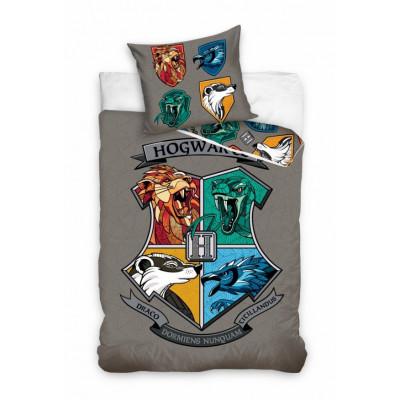 Harry Potter | Povlečení  Harry Potter - erb Bradavice symboly kolejí, bavlněné   140x200, 70x90