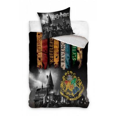 Harry Potter | Povlečení  Harry Potter   erb Bradavice barevný, bavlněné  140x200, 70x90