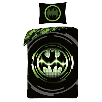 Batman | Povlečení  Batman, černé/zelené bavlněné  140x200, 70x90