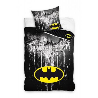 Batman | Povlečení  Batman, bavlněné, Dva znaky netopýra, 140x200, 70x90
