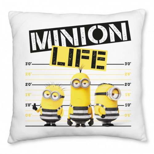 Minions| Polštář Mimoni, Minion Life,  40x40